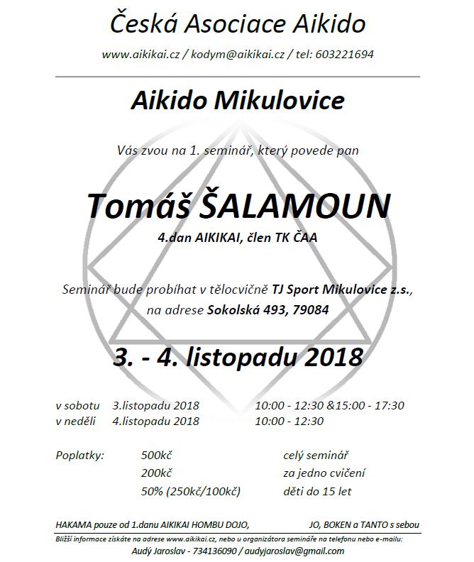 T. Šalamoun (4. dan Aikikai) @ Mikulovice